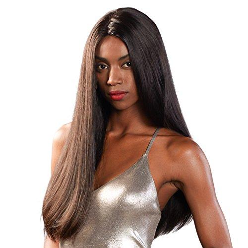 Ladystar Noir naturel 7 A brésilien Cheveux raides Extensions de cheveux humains non transformés brésiliens vierges Cheveux 3 trames traiter avec mixte Longueur 16–66 cm