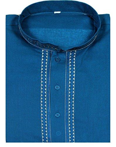 shirt-casual-cotton-brown-short-sleeve-mens-fashion-indian-kurta-fashion-dress-l