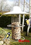 HOCHWERTIGE EDELSTAHL Vogelfutterstation mit Keramik Dach Vogelhaus - 2