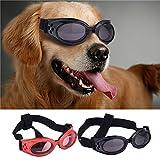 Molie UV Sonnen wasserdichten Schutz Hundebrillen für Haustier Hunde (Black)