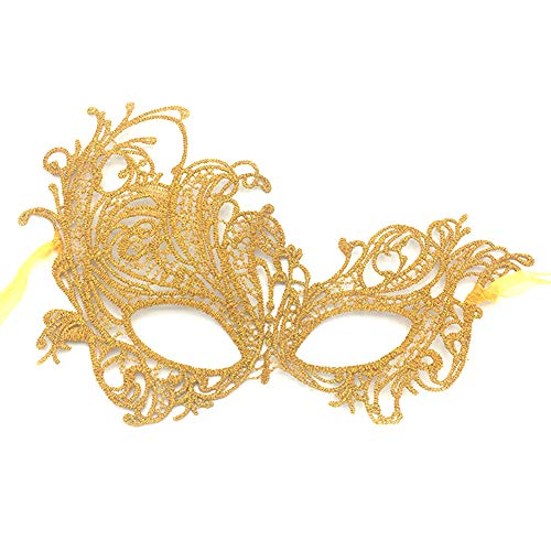 Wansan Masquerade Lace Augenmaske Shiny Strass Augenmaske für Karneval Party Prom Ball Kostüm