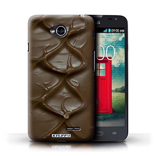 Kobalt® Imprimé Etui / Coque pour LG L70/D320 / Doigts/Sticks conception / Série Chocolat Mars Bar