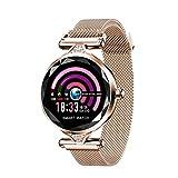 squarex H1 Frauen Blutdruck Pulsmesser Sport Smart Armband Uhr Schrittzähler, Blutdruck Blutsauerstoffsättigung Pulsuhr Fitness Tracker Sportuhr,Geschenk für Frauen (Rose Gold)