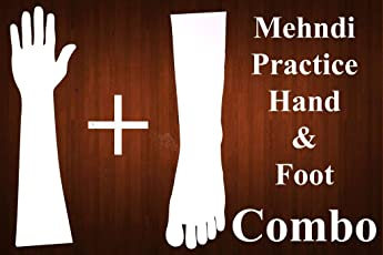 HENNA ART - Combo Henna Practice Hand & Foot Made with High Quality Acrylic Material for Mehndi design Mehandi Hand & Feet Wash and Use both sides Qty 2