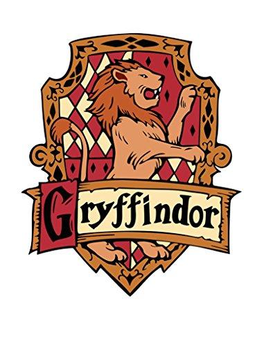 Tenner London - Gryffindor-Hauswappen zum Aufnähen und Aufbügeln, mit Siebdruck gefertigt, maschinenwaschbar