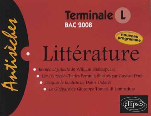 litterature-t-l-bac-2008