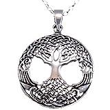 Scottish Jewellery Shop Kette mit Anhänger Sterling-Silber 925 Baum des Lebens 40,6 cm