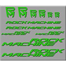 PEGATINAS ROCK MACHINE R240 VINILO ADESIVI DECAL AUFKLEBER КЛЕЙ MTB STICKERS BIKE (VERDE)