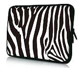 Luxburg® Design Laptoptasche Notebooktasche Sleeve für 17,3 Zoll, Motiv: Zebra