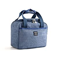 Insulated Lunch Bag, lesgos Reusable Water-Resistant Thermal Lunch Bag, Large Leakproof Cooler Tote Bag Lunch Box with Zipper for Women Men Kids Picnic Beach Fishing Work