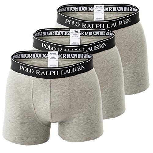 POLO RALPH LAUREN Herren Shorts 3er Pack, Classic Trunk - Grau mit Schwarz: Größe: 7 (Gr. X-Large)