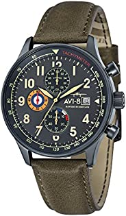 AVI-8 Men39's Analogue Quartz Watch with Leather Strap AV-401