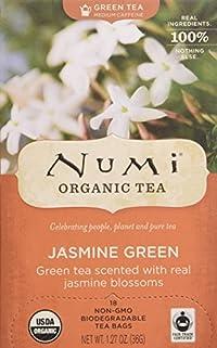 Numi Organic Tea Monkey King, Full Leaf Jasmine Green Tea in Teabags - 18 CT