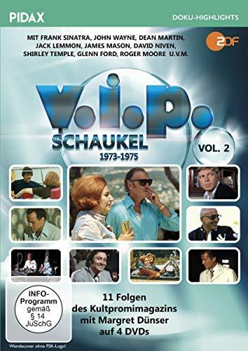 V.I.P.-Schaukel, Vol. 2 (1973 - 1975) / Weitere 11 Folgen des Kultpromimagazins mit Margret Dünser (Pidax Doku-Highlights) [4 DVDs]