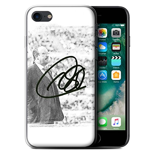 Offiziell Newcastle United FC Hülle / Gel TPU Case für Apple iPhone 7 / Montage Muster / NUFC Rafa Benítez Kollektion Autogramm