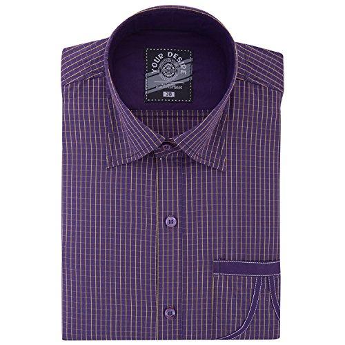 Your Desire Shirts Men Cotton Purple Formal Shirt (Size 38)