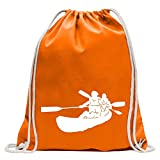 Kiwistar Kajak - Kanus - Doppelpaddel Turnbeutel Fun Rucksack Sport Beutel Gymsack Baumwolle mit Ziehgurt