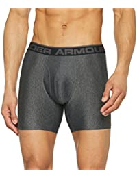 Under Armour THE ORIGINAL 6'' BOXERJOCK - Boxers para Hombre, color Gris (Carbon Heather), talla XXL