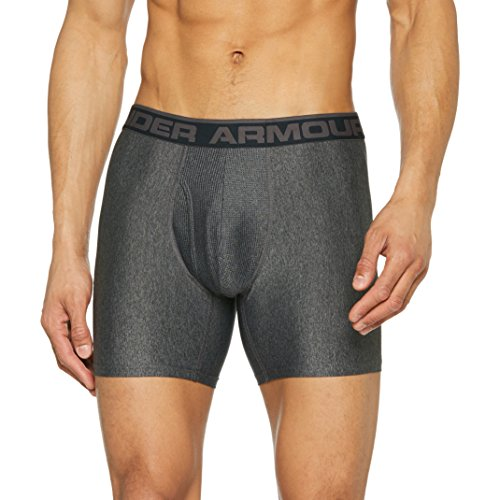 Shorts Under Herren Armour Lange (Under Armour Herren SPortswear the Original 6 Zoll Unterhose, Carbon Heather, M)