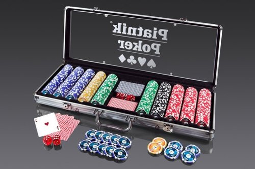 Piatnik  790492 - Pro Poker Alukoffer 500 High Gloss Chips