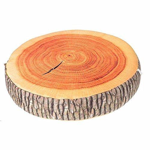 ODN Rund Stuempfe geformte dekorative Kissen niedlichen runden Holz Korn weichen Pluesch Stuhl Sitz Kissen Kissen (Stümpfe Holz)