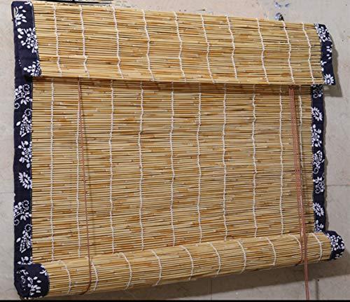 cur000tain Reed Vorhang, Bambus Rollo, Strohvorhang, Rollo, Vorhang, Fensterrollo Sonnenschirm, Laden/Teestube/Zuhause, Ökologischer Schutz, Größe FANN Besonders Angefertigt Werden