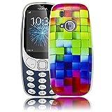 Nokia 3310 2017 Buntes Muster Silikon Schutz-Hülle weiche Tasche Cover Case Bumper Etui Flip smartphone handy backcover Schutzhülle Handyhülle thematys®