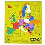 This map puzzle takes you to Europe. Here you have a foam frame and different countries as puzzle pieces to understand what fits where. One by one assemble all the pieces and you have your mapology. Destination Europe ready, play again and again to m...
