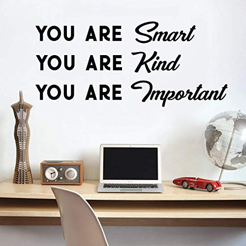 aus Vinyl, Motiv You Are Smart You Are Kind You Are Important, 40,6 x 91,4 cm ()