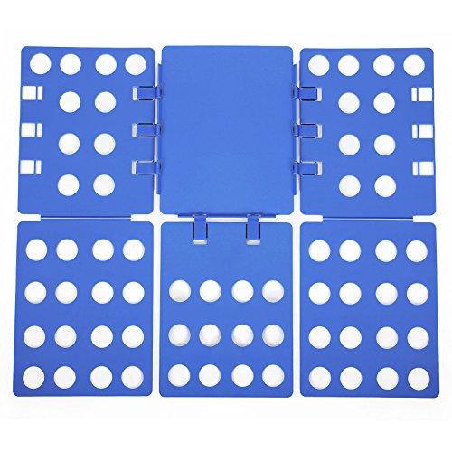 SONGMICS Tabla para doblar adulto vestidos pantalones camisas Doblador de ropa Plegable azul LCF003