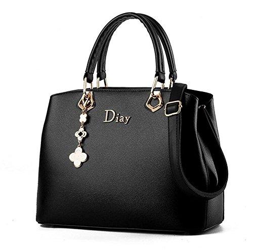 PU Damen Kurier Handtasche Multifunktions handtaschen Schulter black Beutel Leder Frauen HQYSS justierbare ZIqTxRqd