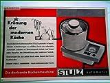 60er Jahre - Inserat / Anzeige: STULZ KÜCHENMASCHINE - Grösse : ca. 150 x 210 Millimeter - alte Werbung / Originalwerbung/ Printwerbung / Anzeigenwerbung / Advertisement