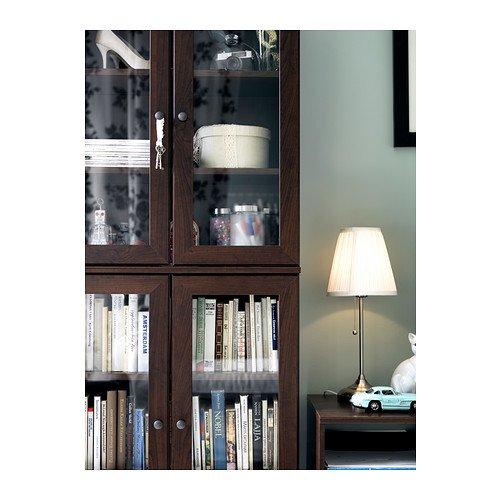 """IKEA Tischlampe \""""Arstid\"""" 56cm hohe Tischleuchte - vernickelt - mit Stoffschirm"""