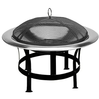Feuerstelle Edelstahl - Grillstelle Feuerschale Grillschale von Deuba auf Du und dein Garten