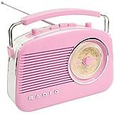 Konig Stylish Retro Table Radio - Pink