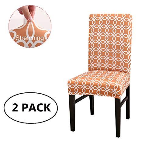 Cubiertas para sillas de comedor elásticas Spandex, estiramiento de rayas geométricas Silla...