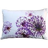 Blumenkissen Allium, lila, violett, Kissenbezug, Baumwolle, 40x60cm