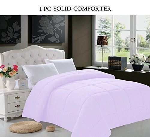 King Duvet Insert (Elegant Comfort Luxurious Super Soft Goose Down Alternative Double-Fill Comforter Duvet Insert, King, Lilac by Elegant Comfort)