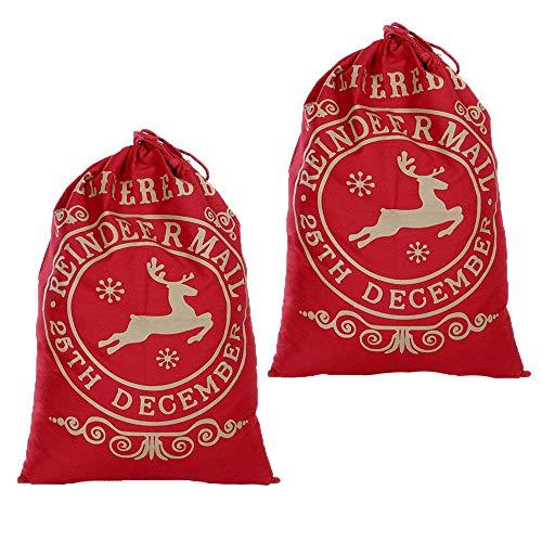 Upxiang 2 Stück Weihnachten Santa Sack Große Weihnachten -