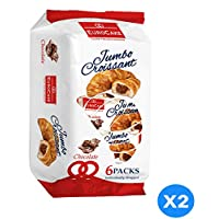 ‏‪Eurocake Jumbo Chocolate Croissant 2 Packs of 6 Pieces each‬‏