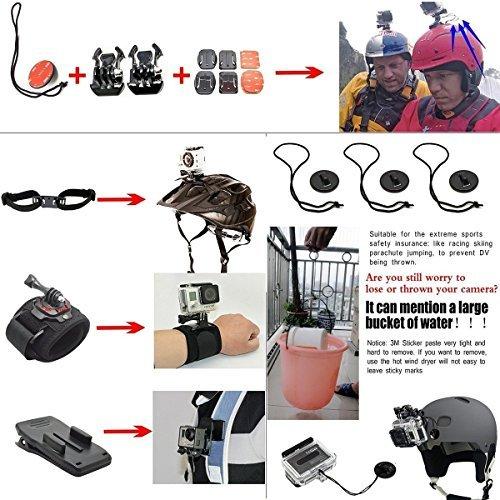 ccbetter-Set-di-50-Accessori-in-1-per-macchina-fotografica-sport-GoPro-Eroe-4-Sessione-Eroe-1-2-3-3-CS710-CS720W-SJ4000-5000-6000-7000-con-valigetta-nera