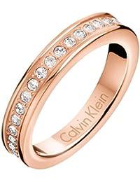 Calvin Klein Anillo Hook Crystal Rosé, kj06pr140108
