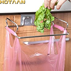 galaksy Eco-Friendly Garbage Bag Stand Litter Bag Holder Novelty Kitchen Cupboard Drawer Door Waste Bin Bucket Dustbin Stainless Steel