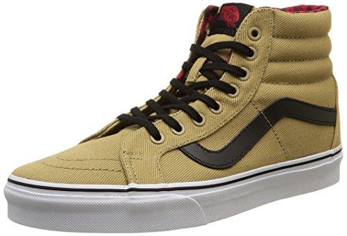 Percalle hi Adulte Cornstalk Hautes Sneakers Sk8 Ristampa twill Beige Mixte Furgoni Nero 5qwzAS