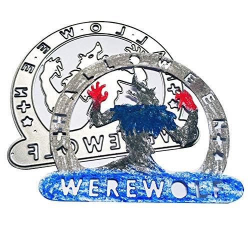 für Halloween, Werwolf, DIY Scrapbooking, Dekoration, Prägung, Schablone, Silber silber ()