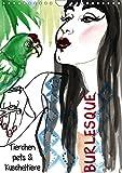 Burlesque Tierchen, pets & Kuscheltiere (Wandkalender 2019 DIN A4 hoch): Burlesque Pinup Zeichnungen mit flottem Strich - Kuscheltiere (Monatskalender, 14 Seiten ) (CALVENDO Menschen)