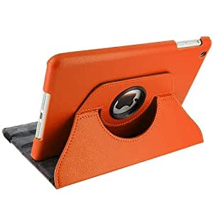 New Ipad 2/3/4 360 Degree rotation Orange Horizontal & Vertical View Leather Cover For New Ipad 2/3/4 by G4GADGET®