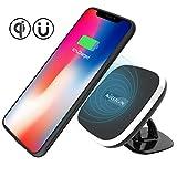 iPhone XS/X Sans fil de voiture chargeur de téléphone Et Coque iPhone XS/X, Nillkin [rotatif] 2 en 1 sans fil de voiture chargeur de téléphone avec station de chargement magnétique de voiture support de fixation pour iPhone X/iPhne XS 5.8'-Model C
