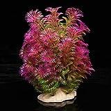 TOOGOO Kunstpflanze 15-20CM Aquarium Dekoration Wasserpflanze violett+gruen