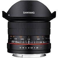 Samyang 12/2,8 Objektiv Fisheye DSLR Sony E manueller Fokus Fotoobjektiv, Superweitwinkel schwarz